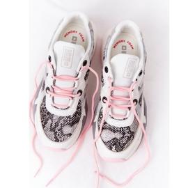 Damskie Sportowe Buty Memory Foam Big Star HH274326 Białe różowe wielokolorowe 9
