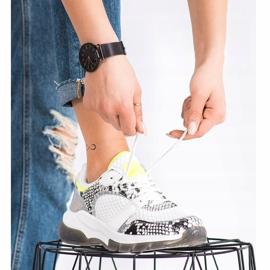 Kylie Wygodne Sneakersy Snake Print białe wielokolorowe 4