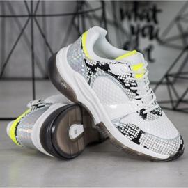 Kylie Wygodne Sneakersy Snake Print białe wielokolorowe 1