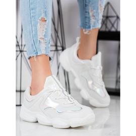 Kylie Stylowe Buty Sportowe białe 4