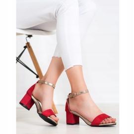 Goodin Eleganckie Sandały Na Słupku czerwone żółte 6