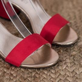 Goodin Eleganckie Sandały Na Słupku czerwone żółte 4