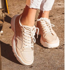 Kylie Lekkie Ażurowe Sneakersy różowe 11
