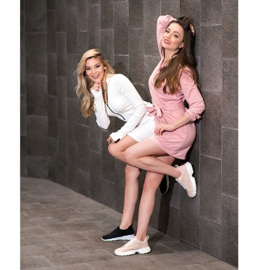 Kylie Lekkie Ażurowe Sneakersy różowe 7