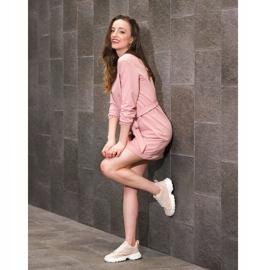 Kylie Lekkie Ażurowe Sneakersy różowe 3