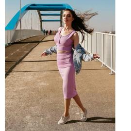 Kylie Lekkie Ażurowe Sneakersy różowe 1