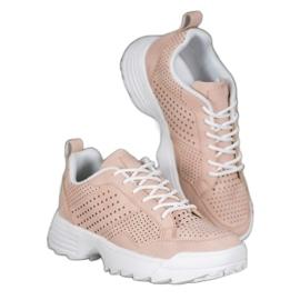 Kylie Lekkie Ażurowe Sneakersy różowe 4