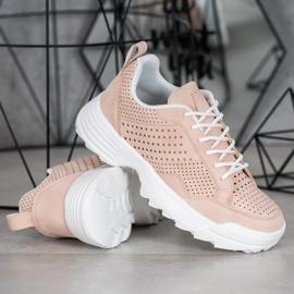 Kylie Lekkie Ażurowe Sneakersy różowe 6