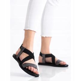 Goodin Komfortowe Czarne Sandałki szare 2