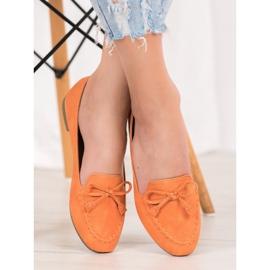 Nio Nio Wygodne Pomarańczowe Mokasyny 4