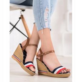 Yes Mile Sandały Z Kolorowymi Paskami wielokolorowe 3