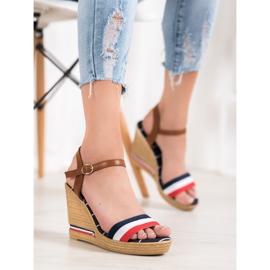 Yes Mile Sandały Z Kolorowymi Paskami wielokolorowe 4