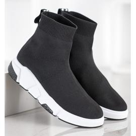 SHELOVET Buty Sportowe Za Kostkę czarne 2