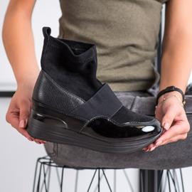 SHELOVET Wsuwane Botki Fashion czarne 3