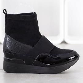 SHELOVET Wsuwane Botki Fashion czarne 1