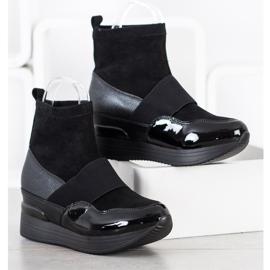 SHELOVET Wsuwane Botki Fashion czarne 2