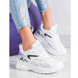 SHELOVET Wygodne Sneakersy Fashion białe 2