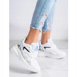 SHELOVET Wygodne Sneakersy Fashion białe 3