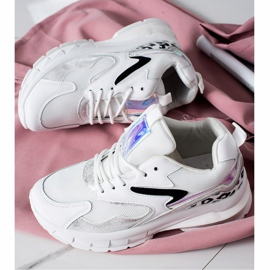 SHELOVET Wygodne Sneakersy Fashion białe 1