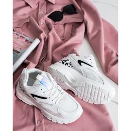 SHELOVET Wygodne Sneakersy Fashion białe 6