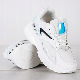 SHELOVET Wygodne Sneakersy Fashion białe 4