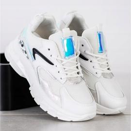 SHELOVET Wygodne Sneakersy Fashion białe 5
