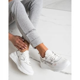 SHELOVET Casualowe Białe Sneakersy szare 3