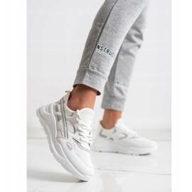 SHELOVET Casualowe Białe Sneakersy szare 2