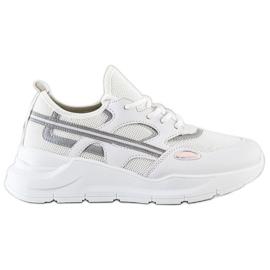 SHELOVET Casualowe Białe Sneakersy szare 4