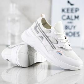 SHELOVET Casualowe Białe Sneakersy szare 5