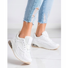 SHELOVET Białe Sneakersy Z Siateczką 1