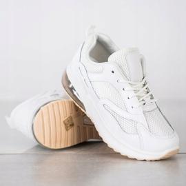 SHELOVET Białe Sneakersy Z Siateczką 2