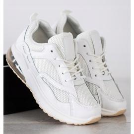 SHELOVET Białe Sneakersy Z Siateczką 3