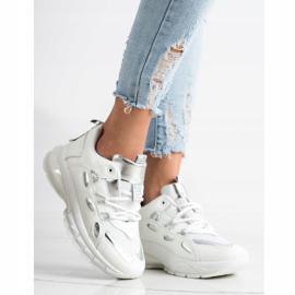SHELOVET Stylowe Sneakersy Z Eko Skóry białe 3