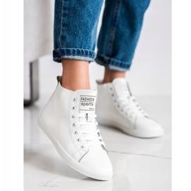 Ideal Shoes Wysokie Trampki Fashion Sports Shoes białe 2