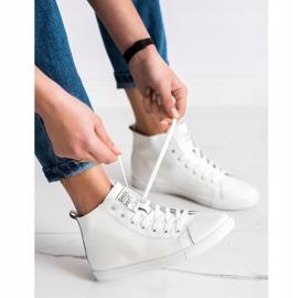Ideal Shoes Wysokie Trampki Fashion Sports Shoes białe 1