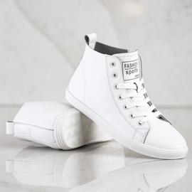 Ideal Shoes Wysokie Trampki Fashion Sports Shoes białe 3