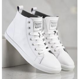 Ideal Shoes Wysokie Trampki Fashion Sports Shoes białe 4