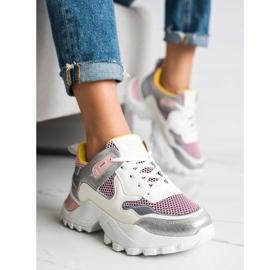SHELOVET Modne Sneakersy wielokolorowe 4