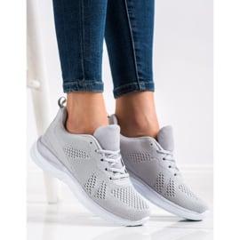 Bona Lekkie Szare Sneakersy 4