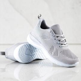 Bona Lekkie Szare Sneakersy 2