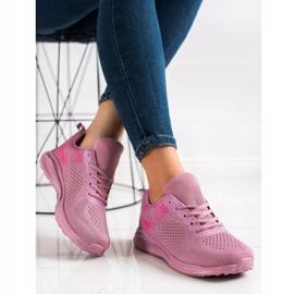 Bona Lekkie Buty Sportowe różowe 2