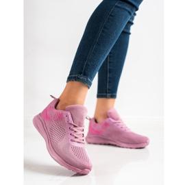 Bona Lekkie Buty Sportowe różowe 3