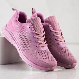 Bona Lekkie Buty Sportowe różowe 1