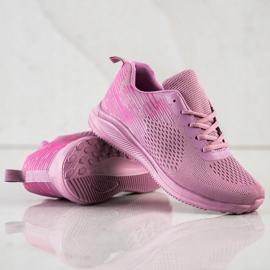 Bona Lekkie Buty Sportowe różowe 4