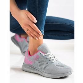 Bona Lekkie Buty Sportowe różowe szare 1