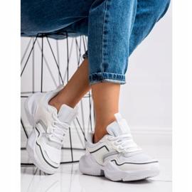 SHELOVET Lekkie Sportowe Sneakersy białe 3