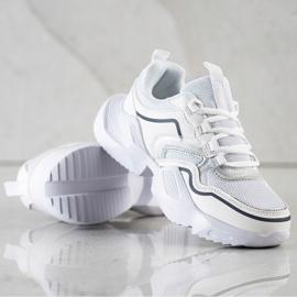 SHELOVET Lekkie Sportowe Sneakersy białe 1