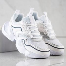 SHELOVET Lekkie Sportowe Sneakersy białe 2
