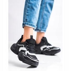 SHELOVET Lekkie Sportowe Sneakersy czarne 4
